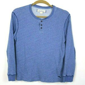 Tommy Bahama Mens Sweater Long Sleeve Buttons Blue